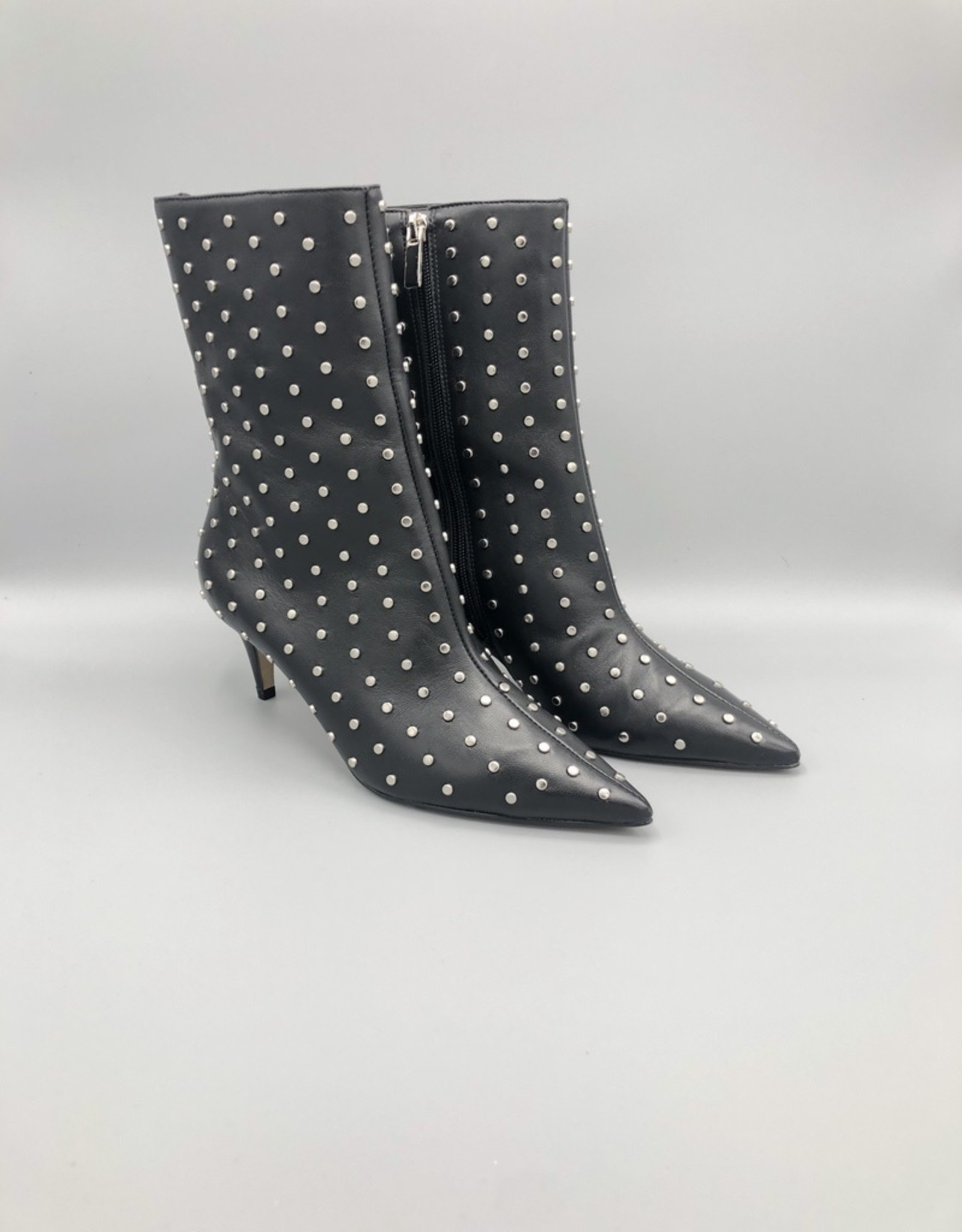 Carrano Bruno Menegatti Mid-Calf Kitten Heel Studded Leather Boot