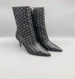 Carrano Bruno Menegatti Mid-Calf Kitten Heel Studded Leather Boot