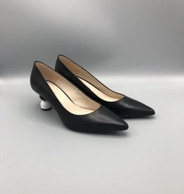 Marian Penny Ball Heel Leather Pump, Kitten