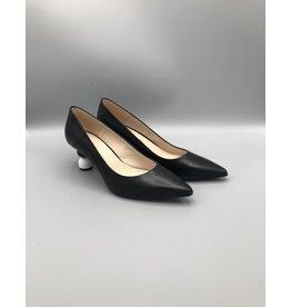 Marian Penny Ball Heel Leather Pump, Kitten