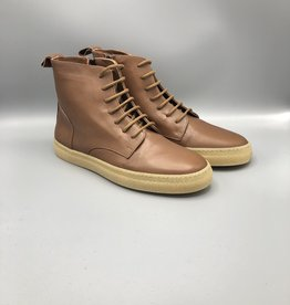 Oanon Leather Side Zip Combat Boot