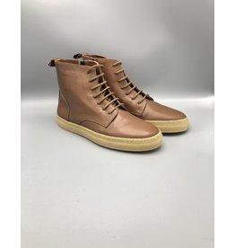 Oanon Leather Side Zip Combat Boot