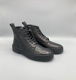 Oanon Oanon Calf Leather Side Zip Combat Boot