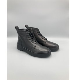 Oanon Calf Leather Side Zip Combat Boot