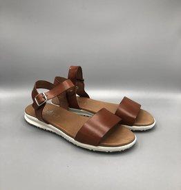 Valeria's Valeria's Single Front & Ankle Strap Leather Sandal