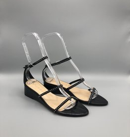 Vicenza Vicenza Croc Leather & Metal Studded Wedge