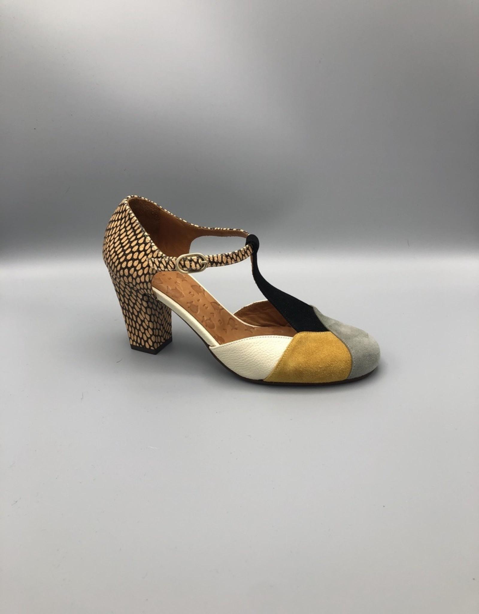 Chie Mihara T-Strap Closed Toe Heel