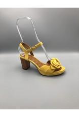 Chie Mihara Ankle Strap Wood Heel Flower