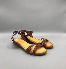 Valeria's Valeria's Rainbow Front Strap Ankle Buckle Sandal