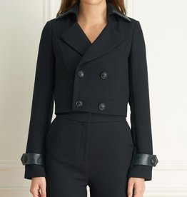 Iris Basket Weave Crop DB Jacket