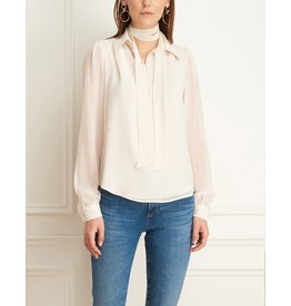 Iris Chiffon Neck Tie Chiffon Pullover Blouse