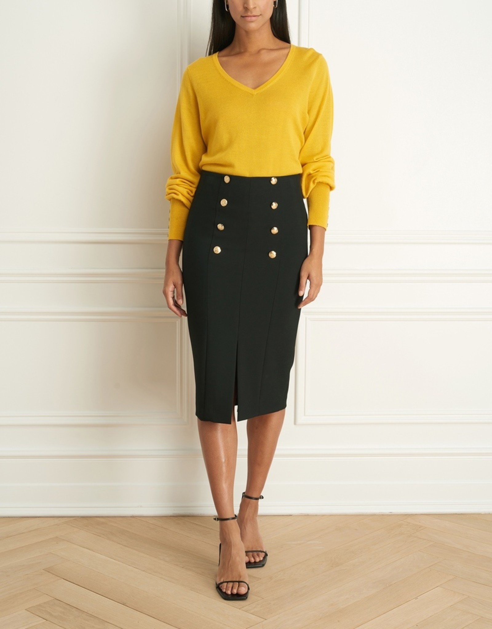 Iris Iris Setlakwe Merino Blend V-Neck Sweater