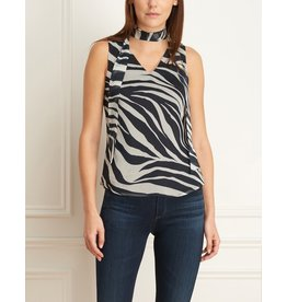 Iris Zebra V-Neck Blouse
