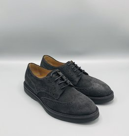 Manovie Toscane Suede Brogue Detail Derby Shoe