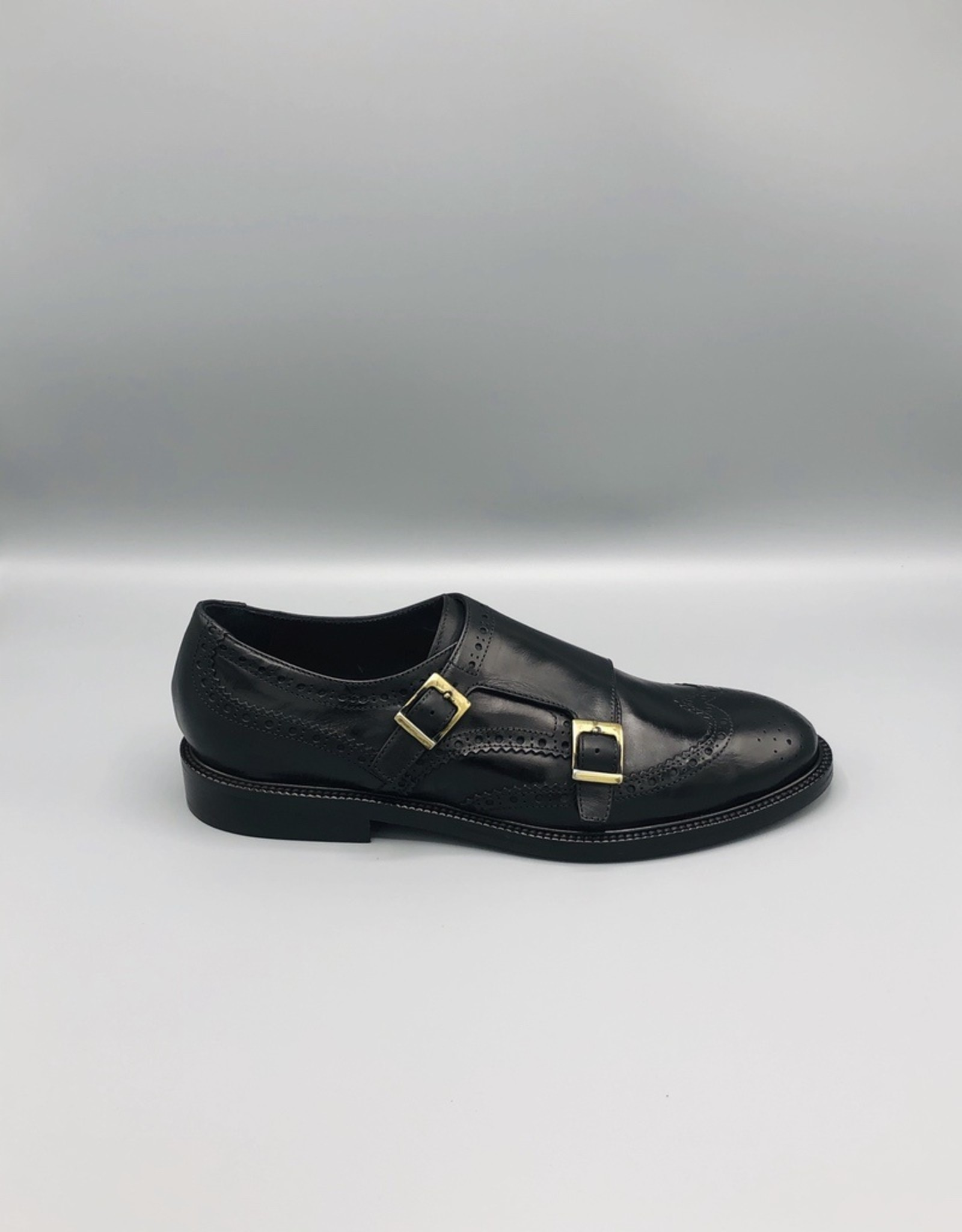 Manovie Toscane Manovie Toscane Double Monk Strap Dip Died Leather Brogue