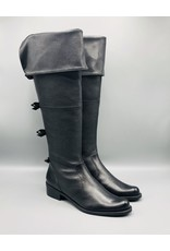 Luz da Lua Thigh High Back Bow Leather Boot