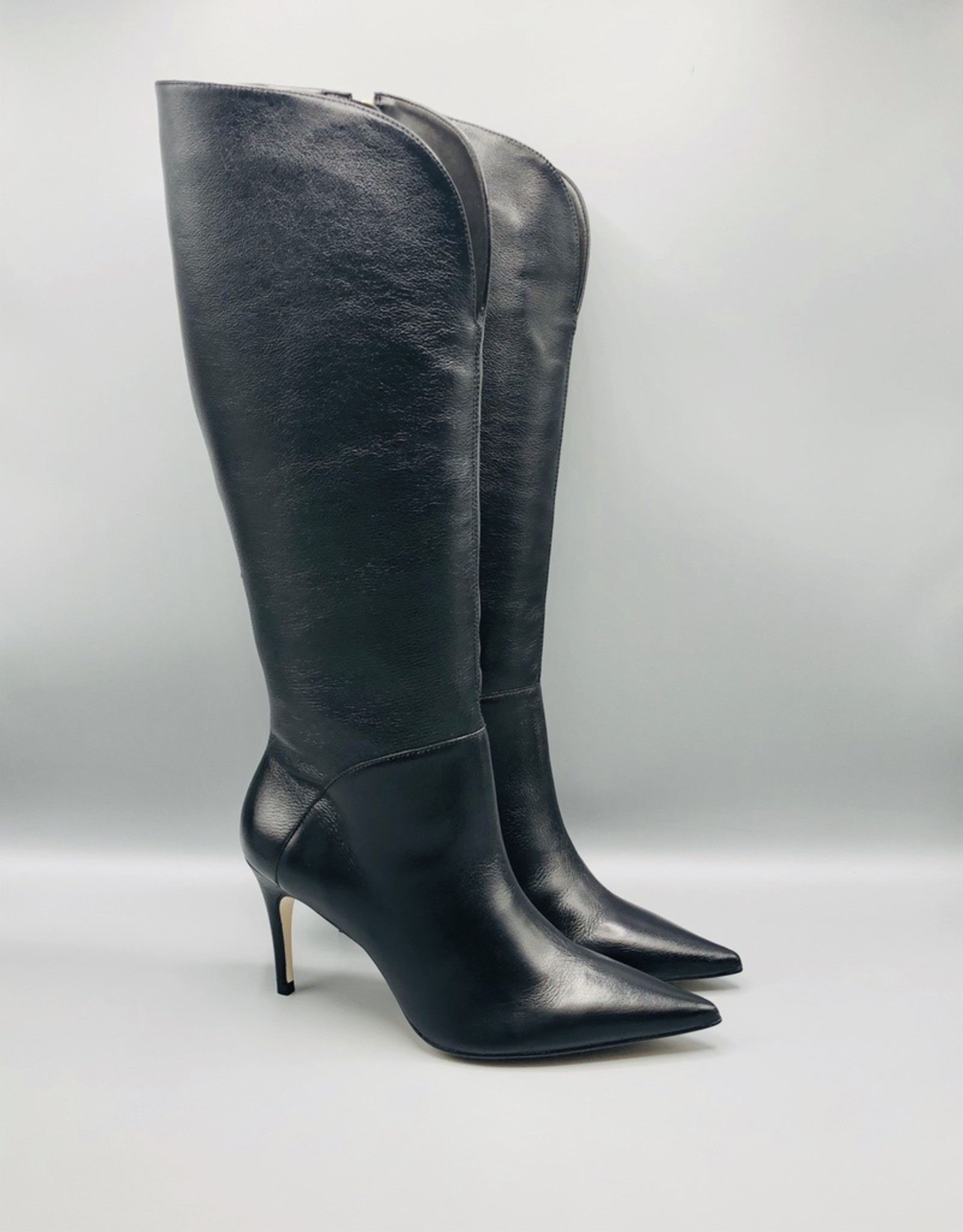 Luz da Lua Luz da Lua Tall Side Zip Leather Stiletto Boot