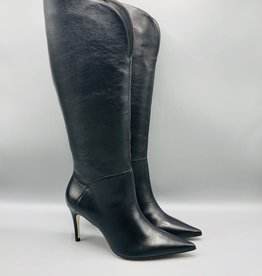Luz da Lua Tall Side Zip Leather Stiletto Boot