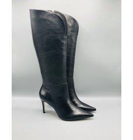 Luz da Lua Tall Side Zip Leather Stiletto Boot
