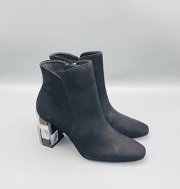 Luz da Lua Square Toe Acrylic Heel Ankle Boot