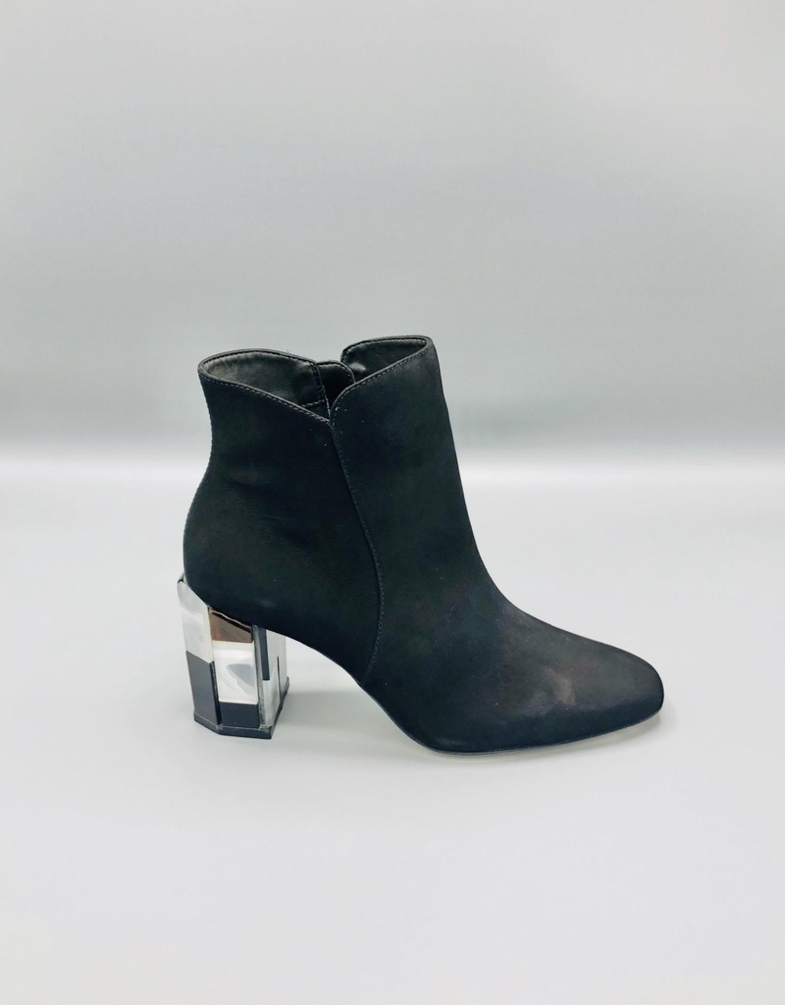 Luz da Lua Luz da Lua Square Toe Acrylic Heel Ankle Boot
