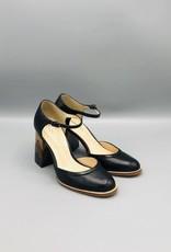 Lorraci Lorraci Multi Wood Heeled Leather Mary Jane
