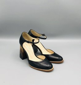 Lorraci Multi Wood Heeled Leather Mary Jane