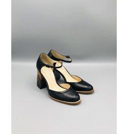 Lorraci Multi Wood Heeled Leather Mary Jane