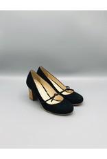 Lorraci Foot Tie Wood Heel Suede Pump