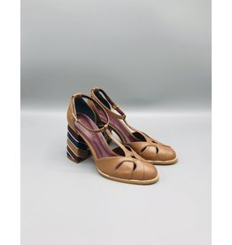 Lorraci Pieced T-Strap Shoe (3 Colours Available)