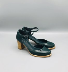 Lorraci Wood Heeled Leather Mary Jane