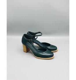 Lorraci Wood Heeled Leather Mary Jane