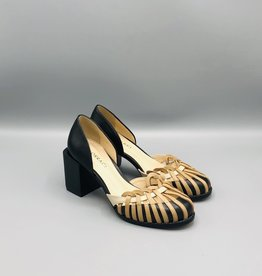 Lorraci Basket Detail Round Toe Pump