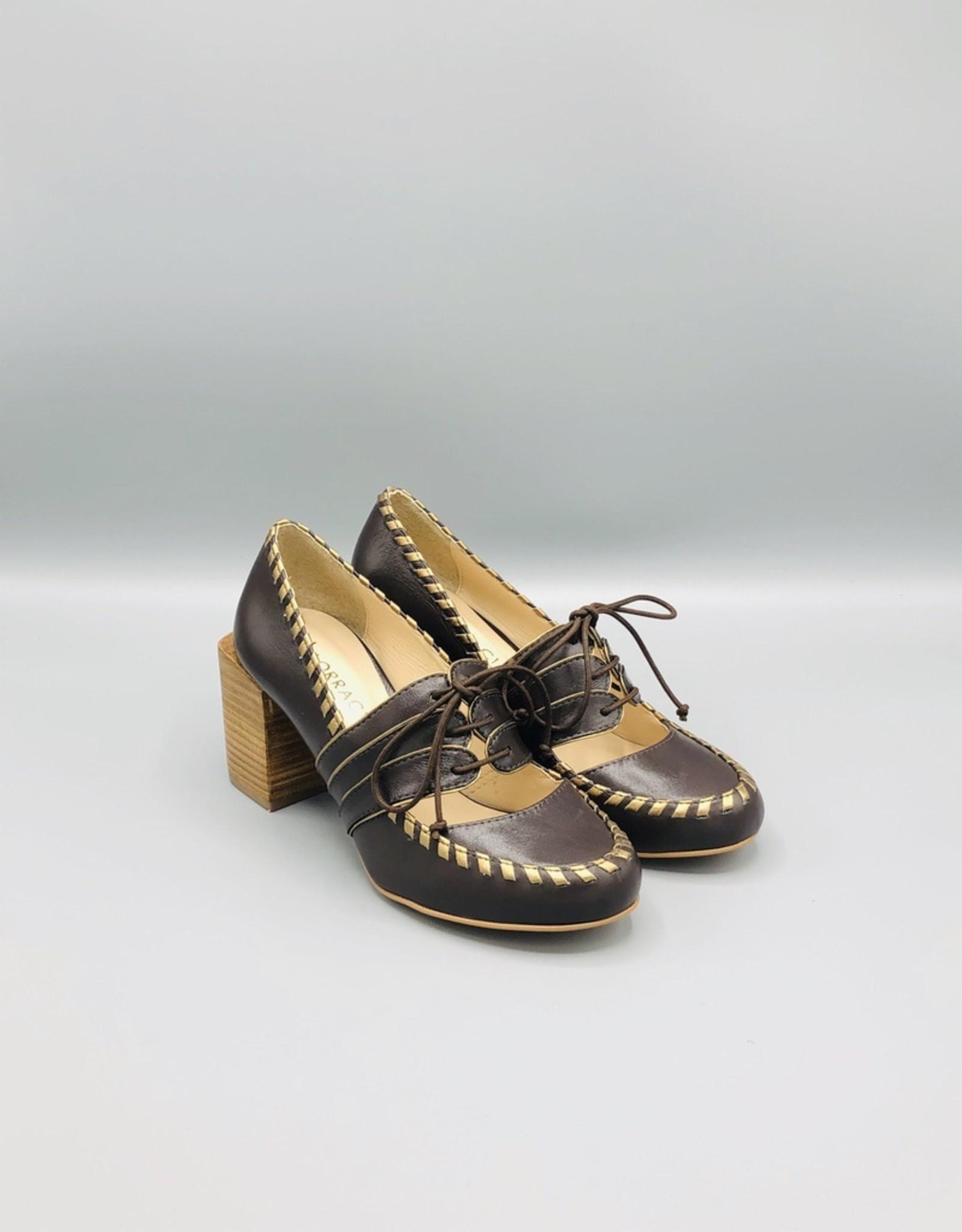 Lorraci Heeled Tie Up Derby Shoe