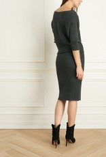 Iris Iris Setlakwe Shoulder Rib Knit Dress