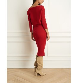 Iris Off Shoulder Rib Knit Dress (2 Colours Available)
