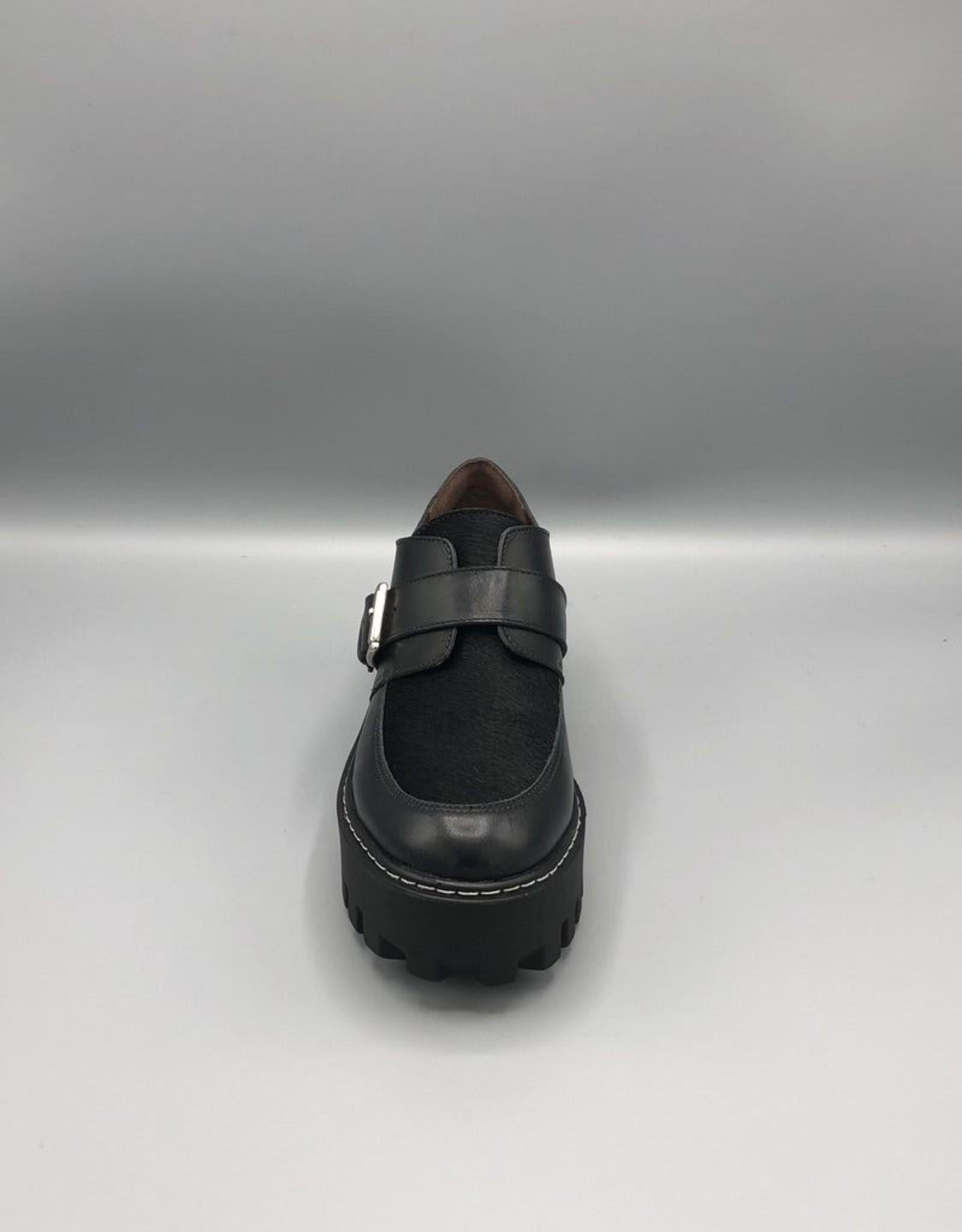 Paro Brasil Paro Brasil Pony Hair Platform Leather Monk Shoe