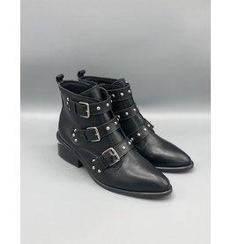 Paro Brasil Open Heel Side Zip Buckled Leather Boot