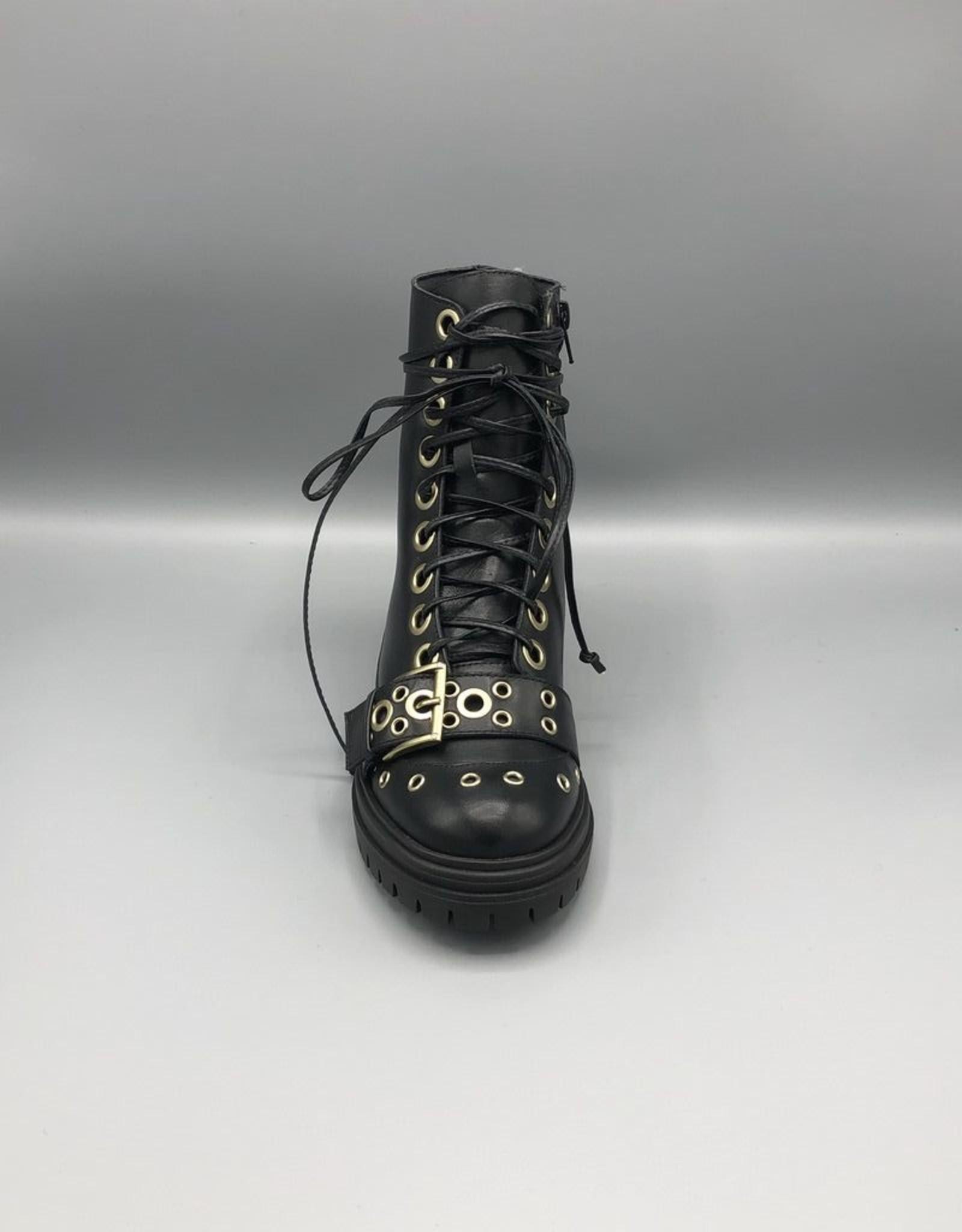 Paro Brasil Paro Brasil Grommet Leather Combat Boot
