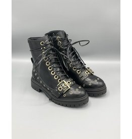 Paro Brasil Grommet Leather Combat Boot
