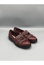 Paro Brasil Fringe & Grommet Chunky Leather Loafer