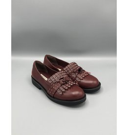 Paro Brasil Fringe & Grommet Chunky Leather Loafer