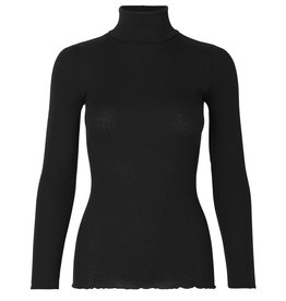 Rosemunde Silk Cotton Ribbed Turtleneck (Multiple Colours Available)