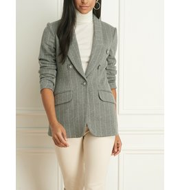 Iris Pinstripe Double-Breasted Blazer