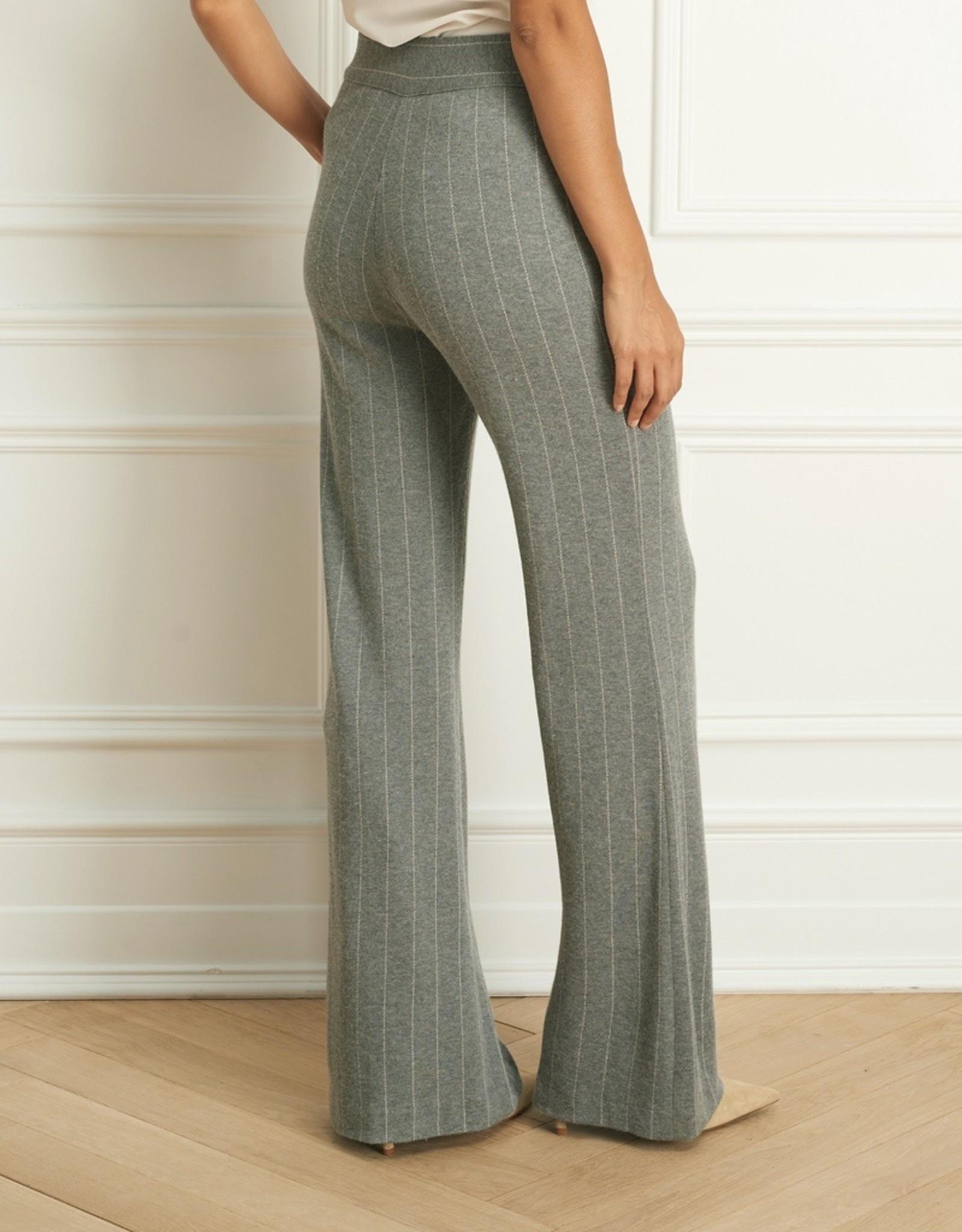 Iris Pinstripe Pull On Wide Leg Pant
