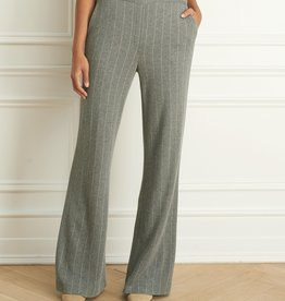 Iris Pinstripe Pull On Wide Leg Pant