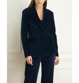 Iris Double-Breasted Stretch Cord Blazer