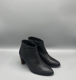 Thiron Wood Heel Front Wrap Side Zip Ankle Boot