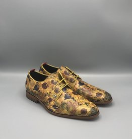 Fish Named Fred Sunflower Printed Classic Dress Shoe