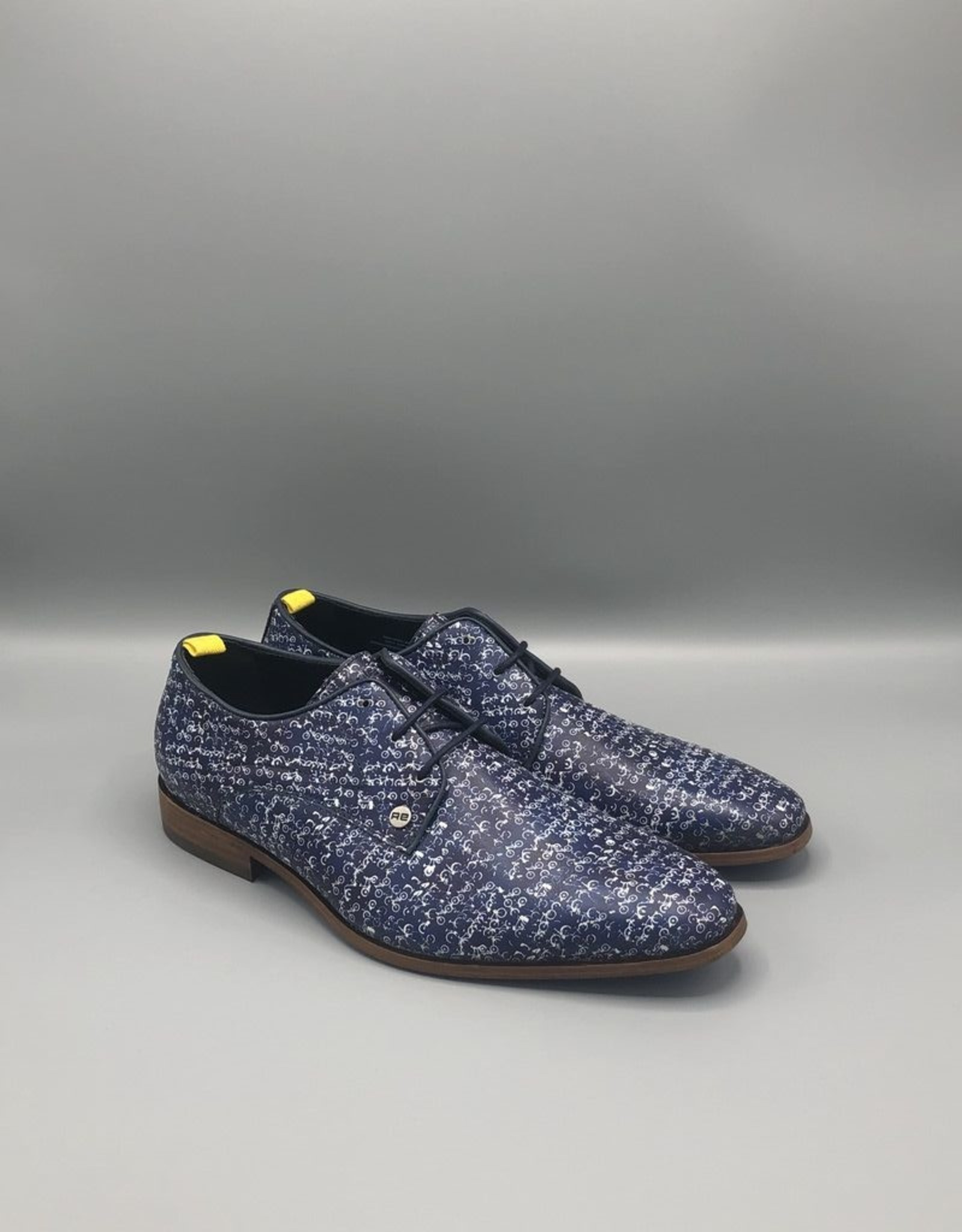 Fish Named Fred Small Bikes Printed Classic Dress Shoe